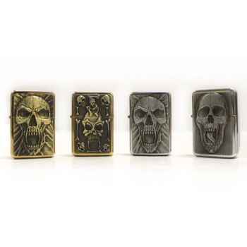 (12) Pack of Skull Oil Lighter w/Retail Display