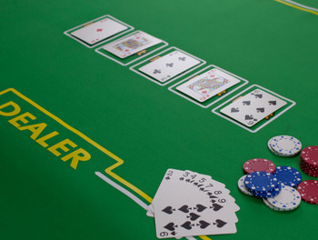 Rollout Gaming Poker w/ Dealer Table Top