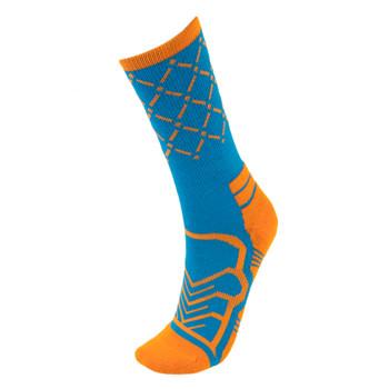 Medium Basketball Compression Socks, Blue/Orange