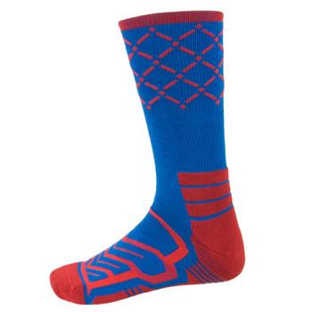 Large Basketball Compression Socks, Blue/Red