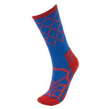 Medium Basketball Compression Socks, Blue/Red