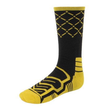 Large Basketball Compression Socks, Black/Yellow