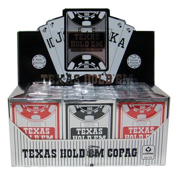12 Decks Hold Em Series Red/Black Peek Index Retail Box