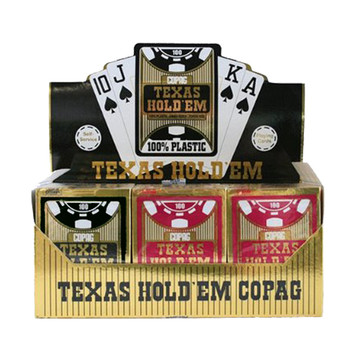 12 Deck Hold Em Series Burgundy/Black Jumbo Index Retail Box