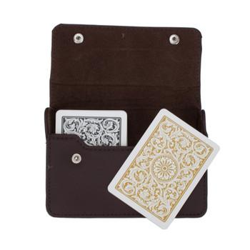 1546 Bl. Gld. Poker Jumbo Leather Case
