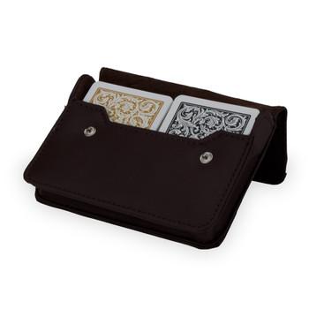 1546 Bl. Gld. Poker Regular Leather Case