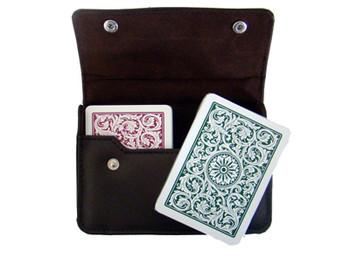 1546 GB Poker Regular Leather Case