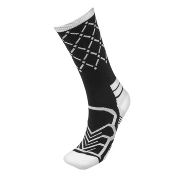 Medium Basketball Compression Socks, Black/White