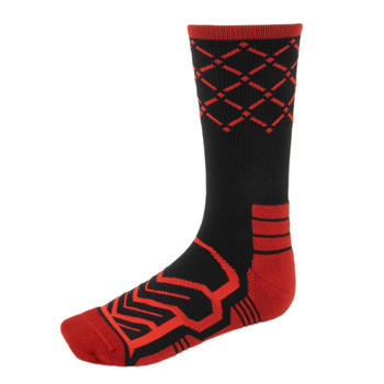 Large Basketball Compression Socks, Black/Red