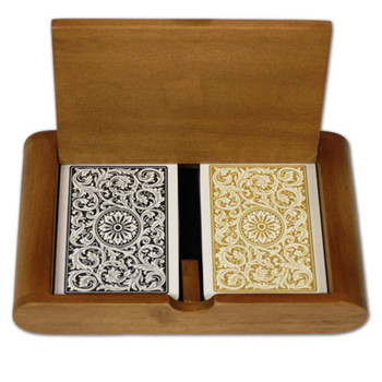 1546 Black Gold Poker Size Regular Box Set