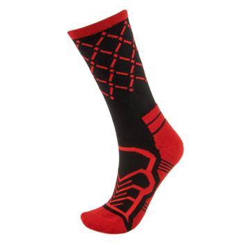 Medium Basketball Compression Socks, Black/Red