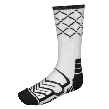 Large Basketball Compression Socks, White/Black