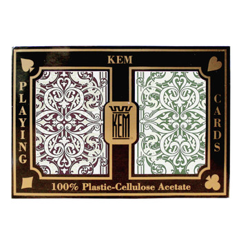Kem Jacquard Burgundy/Green Wide Jumbo