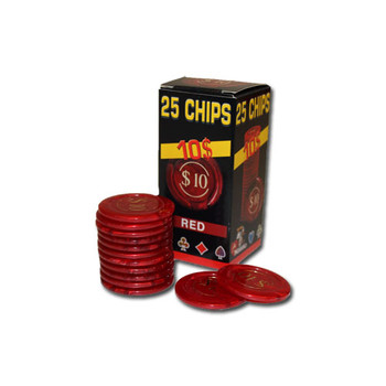 25 Pack of Modiano Composite Chips 4 gram - $10