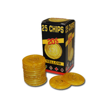 25 Pack of Modiano Composite Chips 4 gram - $20