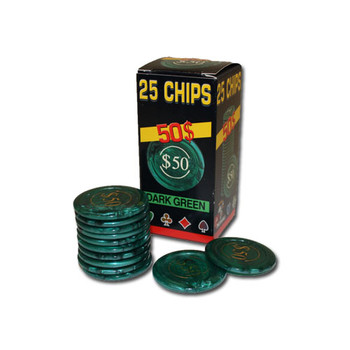 25 Pack of Modiano Composite Chips 4 gram - $50