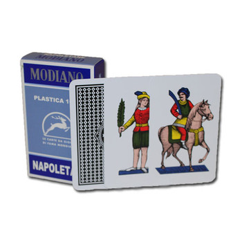 100% PLASTIC Deck of Napoletane Italian Regional Cards