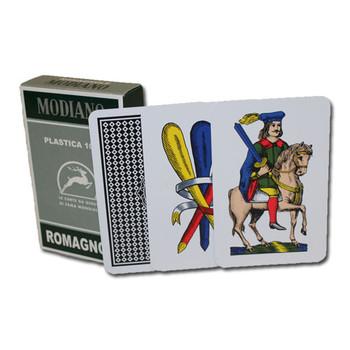 100% PLASTIC Deck of Romagnole Italian Regional Cards