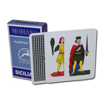 100% PLASTIC Deck of Siciliane Italian Regional Cards