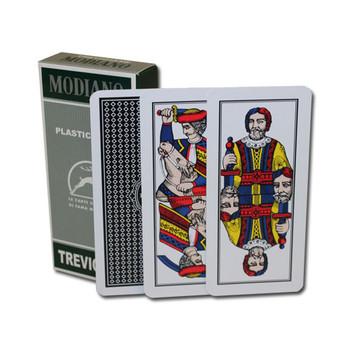 100% PLASTIC Deck of Trevigiane Italian Regional Cards