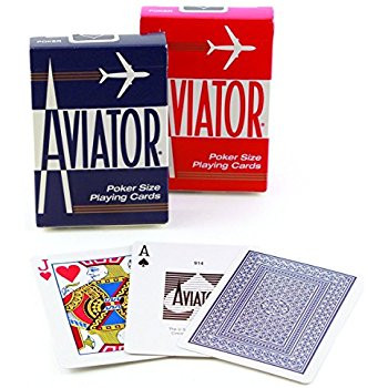 Aviator Pinochle, Standard Index, 12 Decks Red Blue