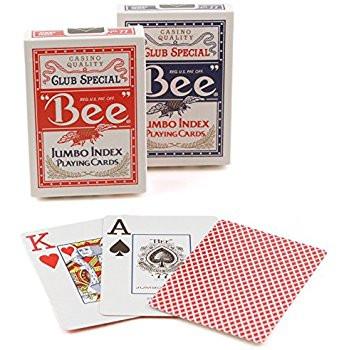 Bee Poker, Jumbo Index, 12 Decks Red/Blue