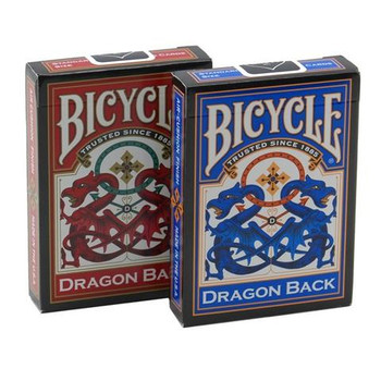 Bicycle Dragon Back, 6 Decks Red/Blue