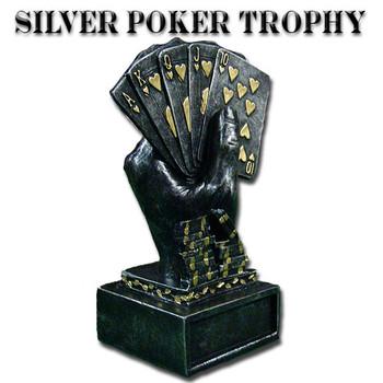 Silver Metal Poker Trophy