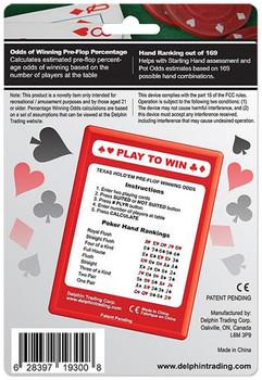 Texas Hold'Em Pre-Flop Odds Calculator w/Deck of Cards