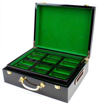 500 Ct Hi-Gloss Wooden Case