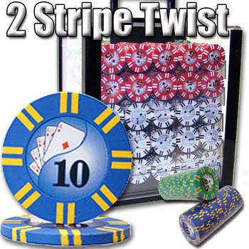 1,000 Ct - Custom Breakout - 2 Stripe Twist 8 G - Acrylic
