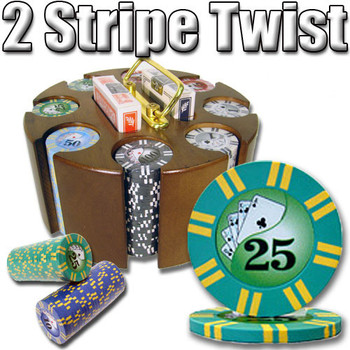 200 Ct - Pre-Packaged - 2 Sripe Twist 8 G - Carousel