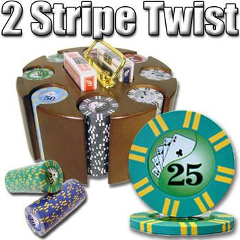 200 Ct - Custom Breakout - 2 Sripe Twist 8 G - Carousel