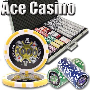 1,000 Ct - Custom Breakout - Ace Casino 14 Gram - Aluminum