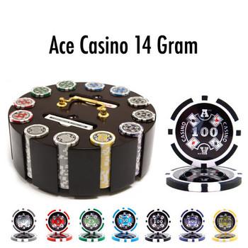 300 Ct - Custom - Ace Casino 14 Gram - Wooden Carousel