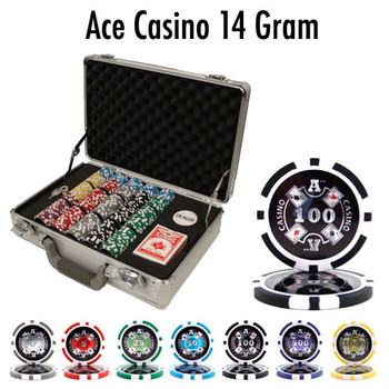 300 Ct Pre-Packaged Ace Casino 14 Gram Chips - Claysmith