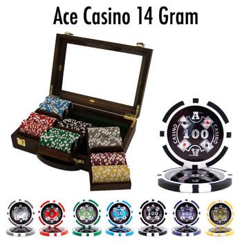 300 Ct - Custom Breakout - Ace Casino 14 Gram - Walnut