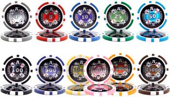 500 Ct - Custom Breakout - Ace Casino 14 Gram - Aluminum