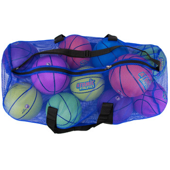 "39"" Mesh Sports Ball Bag with Strap, Blue"