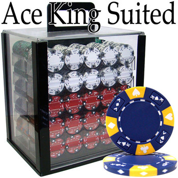 Custom - 1000 Ct Ace King Suited Chip Set Acrylic Case