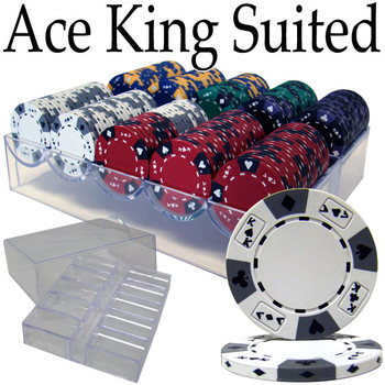 Custom - 200 Ct Ace King Suited Chip Set Acrylic Tray Case
