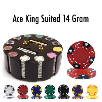 300 Ct - Custom - Ace King Suited 14 G - Wooden Carousel