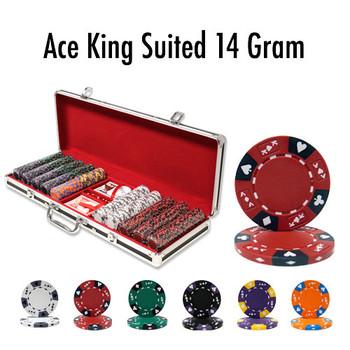 500 Ct - Custom - Ace King Suited 14 G Black Alumium