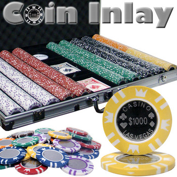 1000 Ct Aluminum Standard Breakout-Coin Inlay 15 Gram Chips