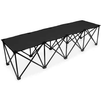 6-Foot Portable Folding 4 Seat Bench, Black