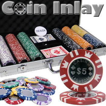 300 Ct Aluminum Custom Packaged - Coin Inlay 15 Gram Chips
