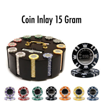 300 Ct - Pre-Packaged - Coin Inlay 15 Gram - Wooden Carousel
