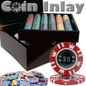 750 Ct Mahogany Set Pre-Packaged - Coin Inlay 15 Gram Chips