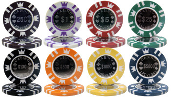 750 Ct Mahogany Custom Packaged - Coin Inlay 15 Gram Chips