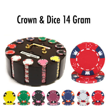 300 Ct - Pre-Packaged - Crown & Dice 14 G - Wooden Carousel